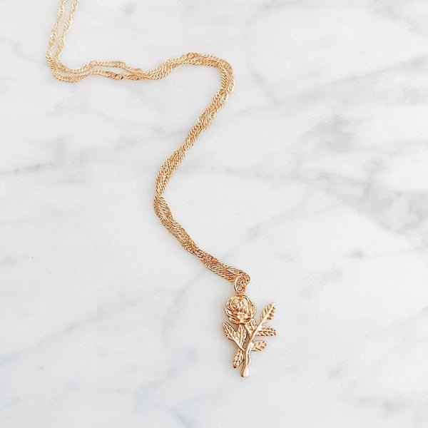 Rose Branch Necklace