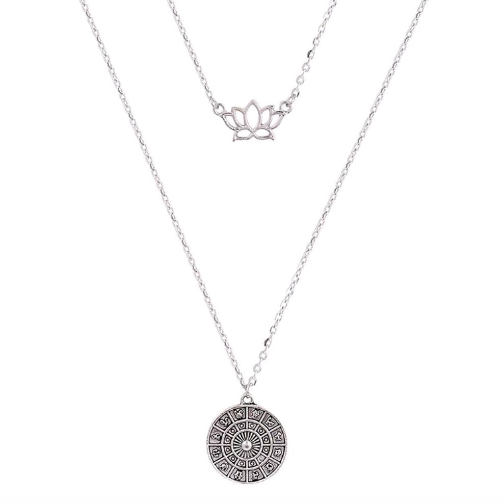 Lotus Flower layer Necklace