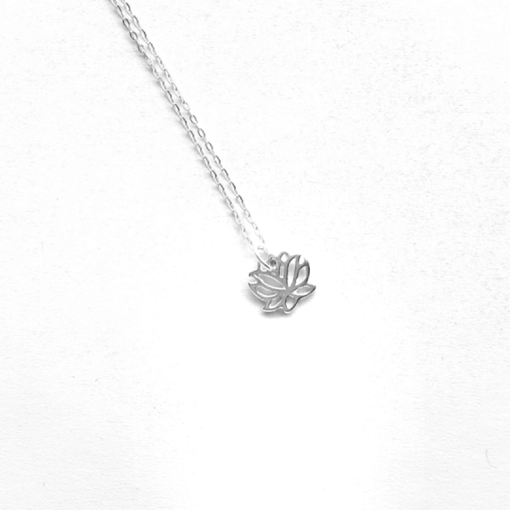 Sterling silver lotus flower necklace tigermarket jewellery sterling silver lotus flower necklace izmirmasajfo