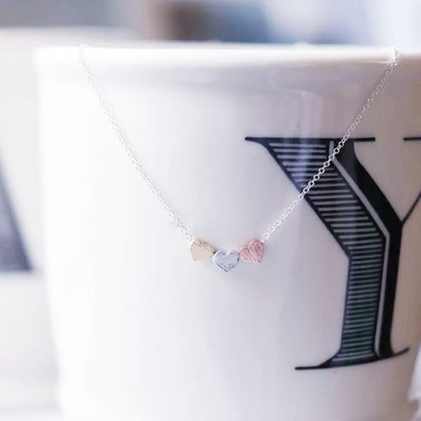 Tiny Triple Heart Necklace