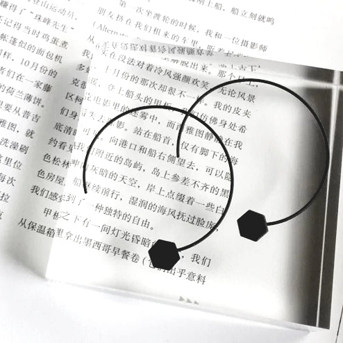 Hexagon Hoop Earring
