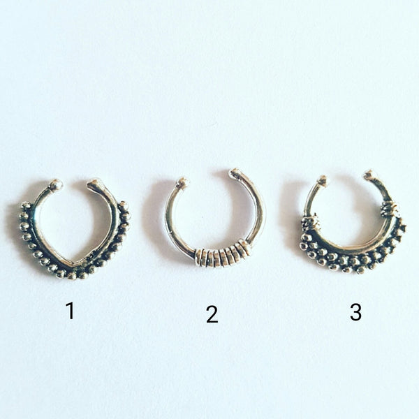 Sterling silver Faux Septum Range