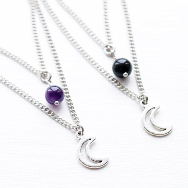 Moonlight layer necklace