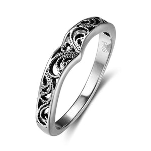 Hollow Wish Bone Ring