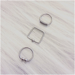Square septum rings