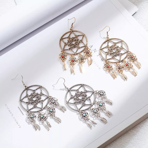 Large Dream Catcher Earring