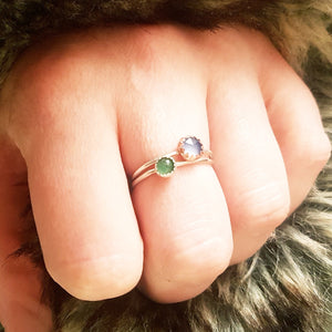 Chalcedony Stacking Rings