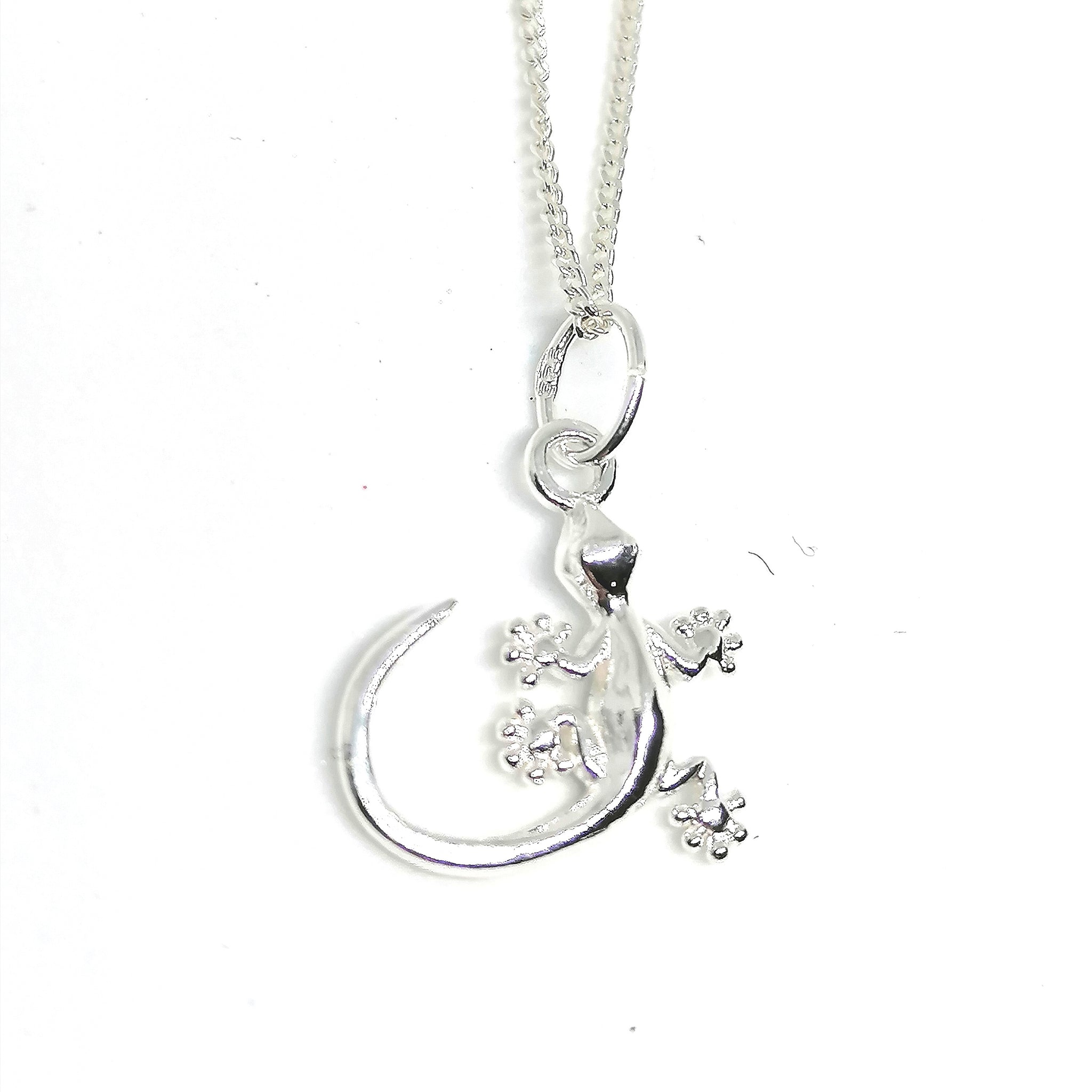 Sterling Silver Gecko Necklace
