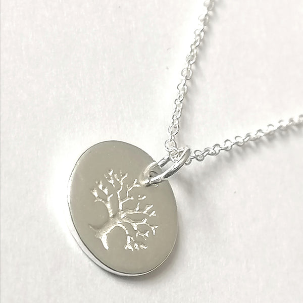 Sterling Silver Tree of Life Penny Necklacd