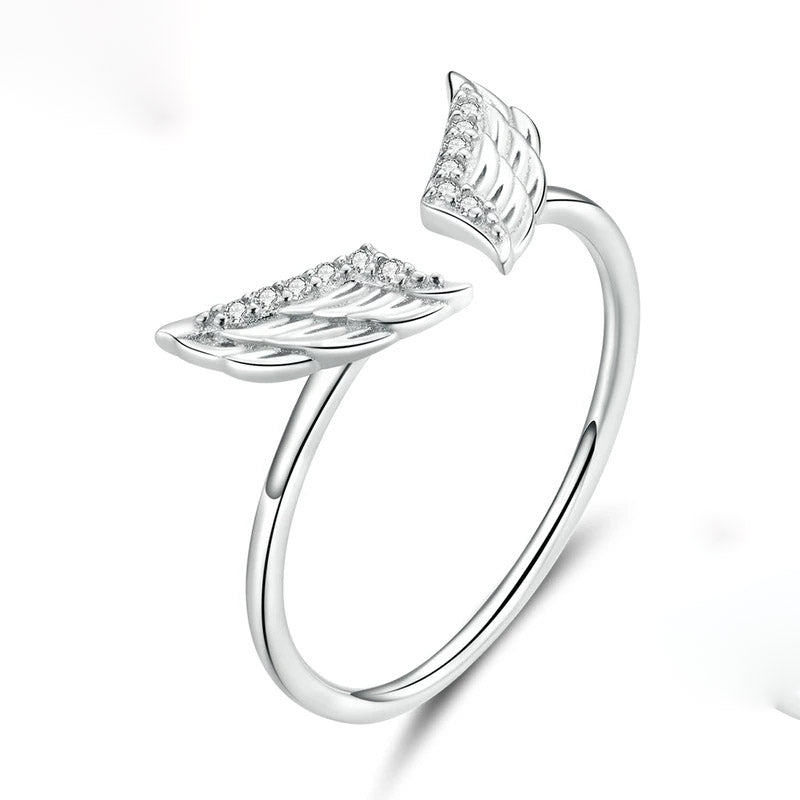 Srerling Silver Wings Ring