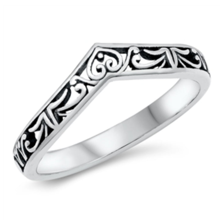 Sterling Silver Sadie Wish Bone Ring