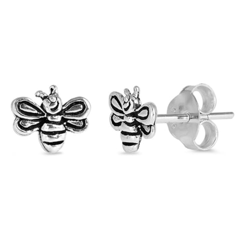 Bumble Bee Sterling Silver Earrings