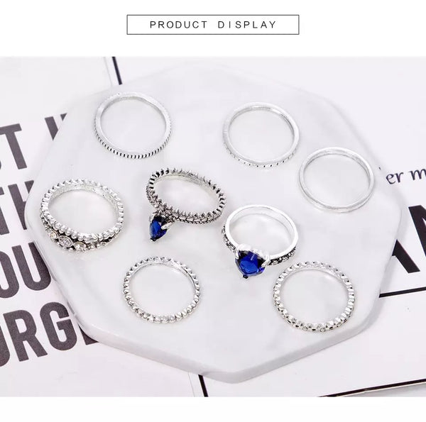 Ocean Blue Ring Set
