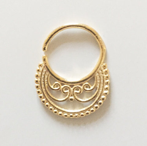 Gold Lola septum ring Was £3.50 now £1!