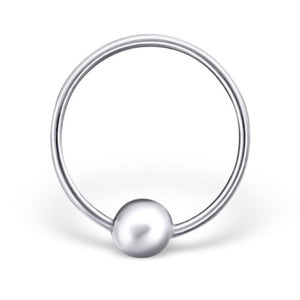Sterling silver nose ring