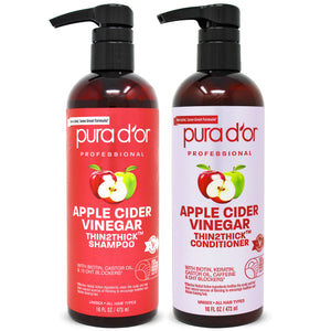 16oz Apple Cider Vinegar Thin2Thick Shampoo and Conditioner Set