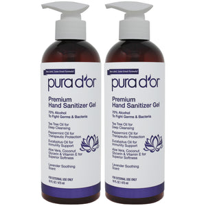 16oz Hand Sanitizer - Lavender (2-Pack)