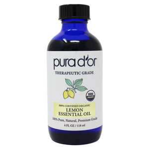 4oz Lemon Essential Oil - USDA Organic, 100% Pure, Natural, Therapeutic Grade