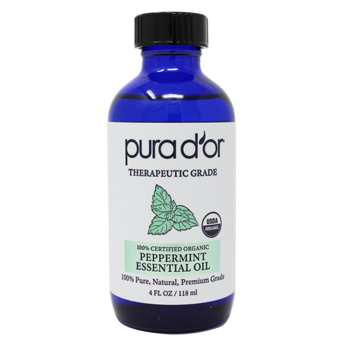 4oz Peppermint Essential Oil - USDA Organic, 100% Pure, Natural, Therapeutic Grade