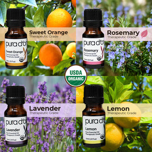 Sweet 16 Essential Oil Set - USDA Organic, 100% Pure, Natural, Therapeutic Grade