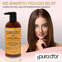 Load image into Gallery viewer, PURA D'OR M.D. Anti-Hair Thinning Shampoo with Coal Tar