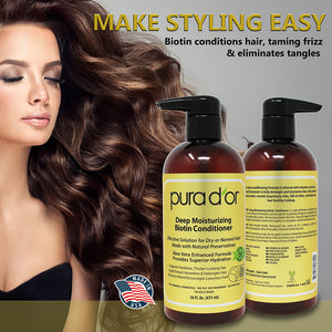 16oz Original Gold Label Shampoo and Deep Moisturizing Conditioner Set