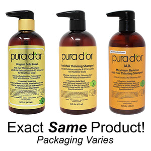PURA D'OR M.D. Anti-Hair Thinning Shampoo with Coal Tar