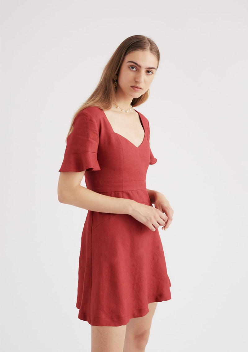 Gretel Dress in Cherry
