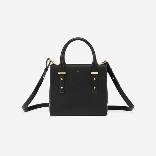 JW PEI Mini Stud Vegan Leather Tote - Black