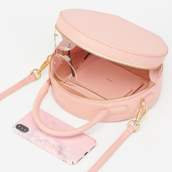 JW PEI Vegan Leather Circle Crossbody - Blush