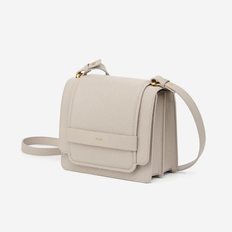 Fiona Vegan Leather Crossbody - Gray