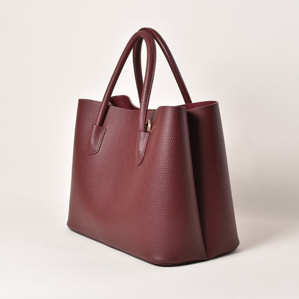 Angela Roi Cher Vegan Leather Tote - Bordeaux