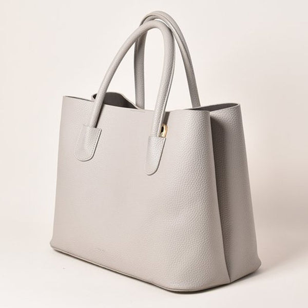 Angela Roi Cher Vegan Leather Tote - Gray
