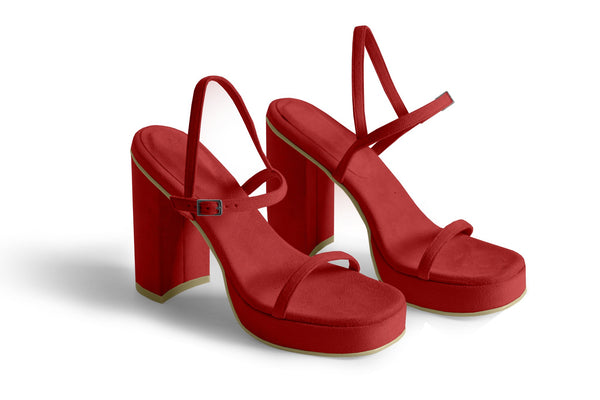 The Boogie Vegan Sandal - Ruby