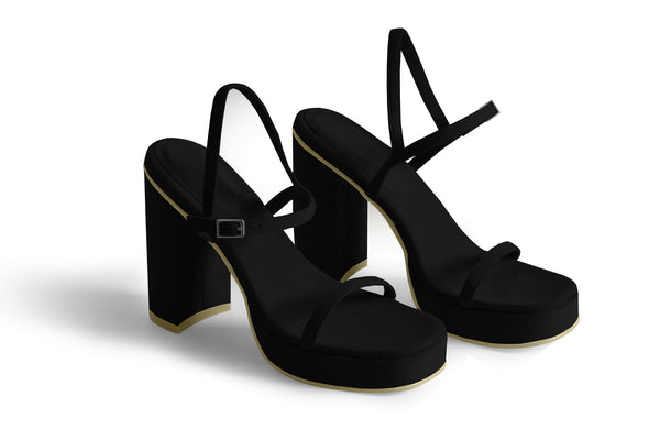 The Boogie Vegan Sandal - Black