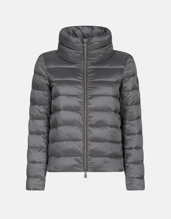 Women's Iris Collared Jacket - Mid Gray