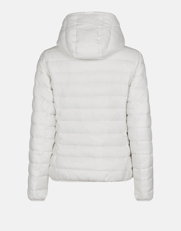 Women's Giga Faux Sheepskin Hooded Jacket - Off White