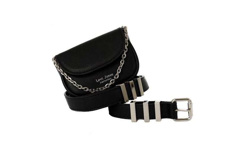 Levi Jones Monroe Vegan Leather Waist Bag - Silver Hardware