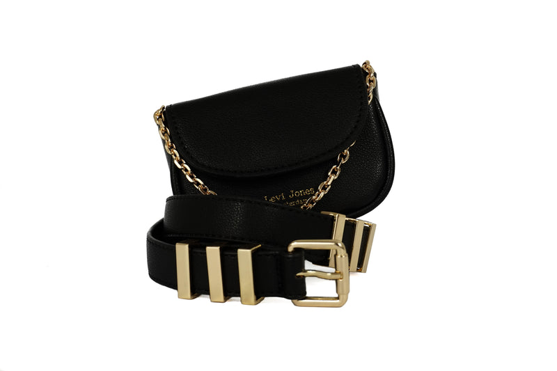 Levi Jones Monroe Vegan Leather Waist Bag - Gold Hardware