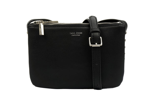 Levi Jones Romane Vegan Leather Crossbody - Silver Hardware