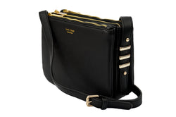Levi Jones Romane Vegan Leather Crossbody - Gold Hardware