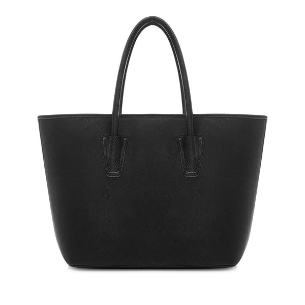 LaBante London Daria Vegan Leather Tote - Black