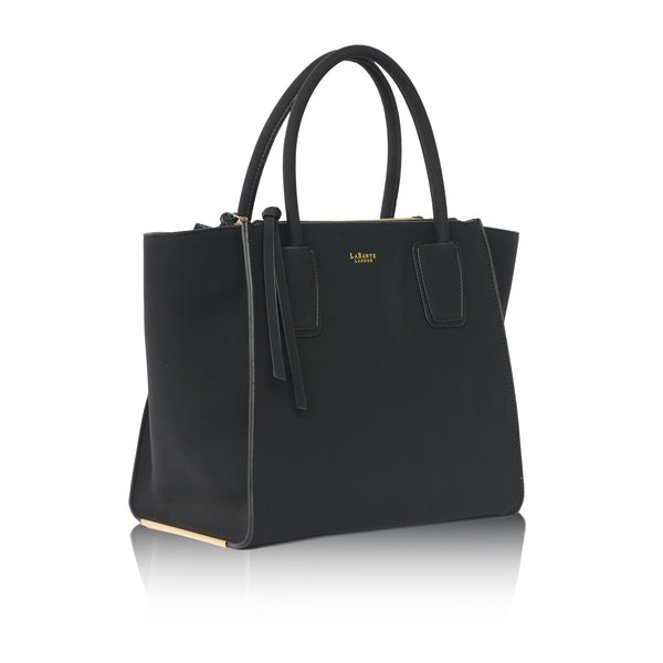 LaBante London Demi Vegan Suede Tote - Black
