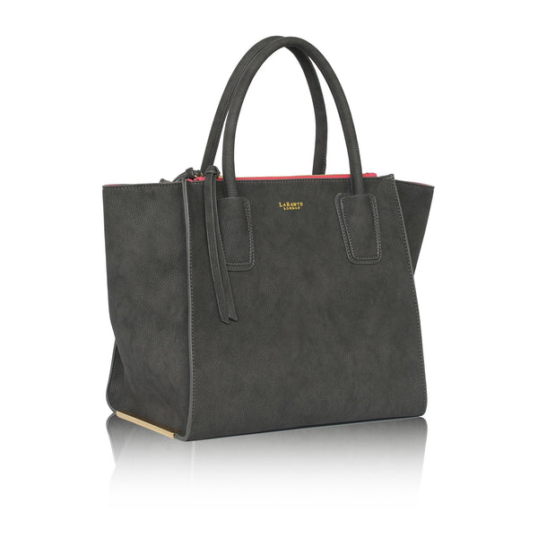LaBante London Demi Vegan Suede Tote - Gray