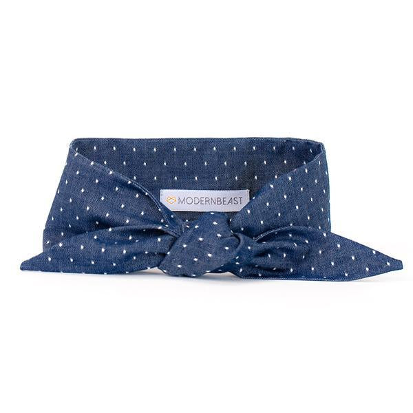 Modern Beast - Necktie in Polka Dot Denim