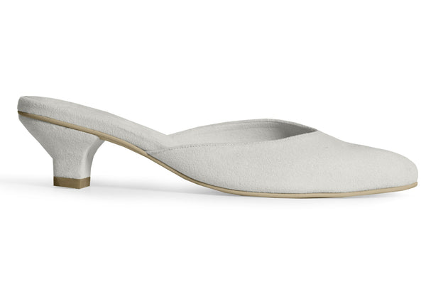 The Vegan Kitten Heel - Gray