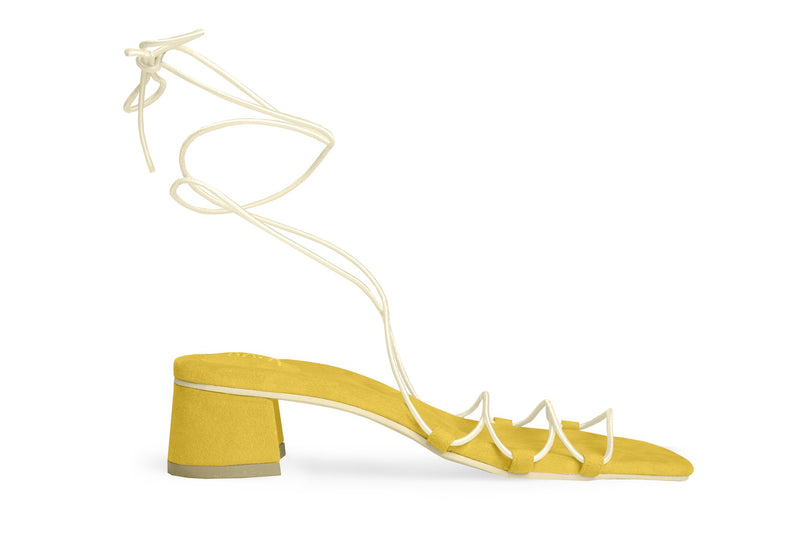 The Flex Vegan Sandal - Yellow
