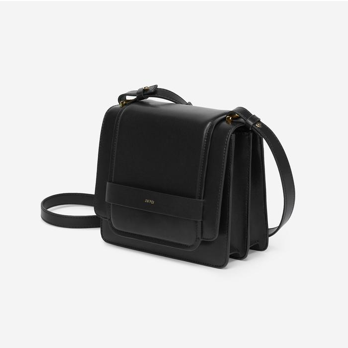 JW PEI Fiona Vegan Leather Crossbody - Black