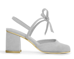 The Vegan Holiday Heel - Gray