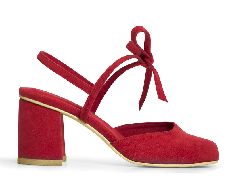 The Vegan Holiday Heel - Ruby